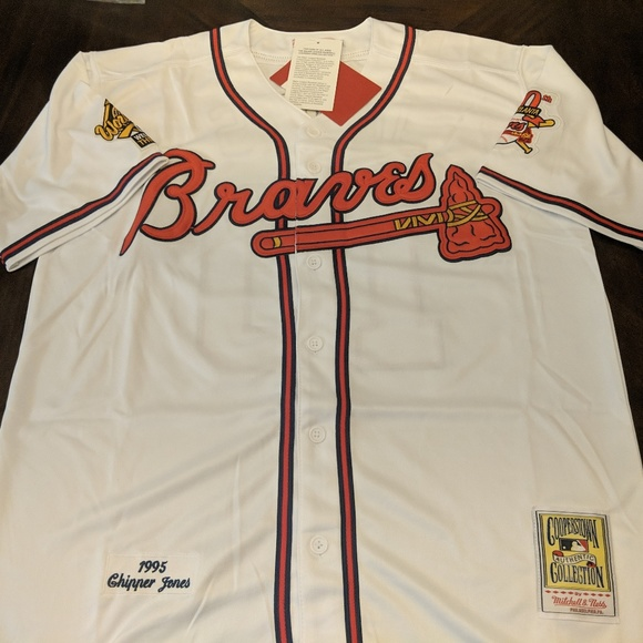 big sale a9360 50d5f ⚾ New Chipper Jones #10 Atlanta Braves Jersey Boutique